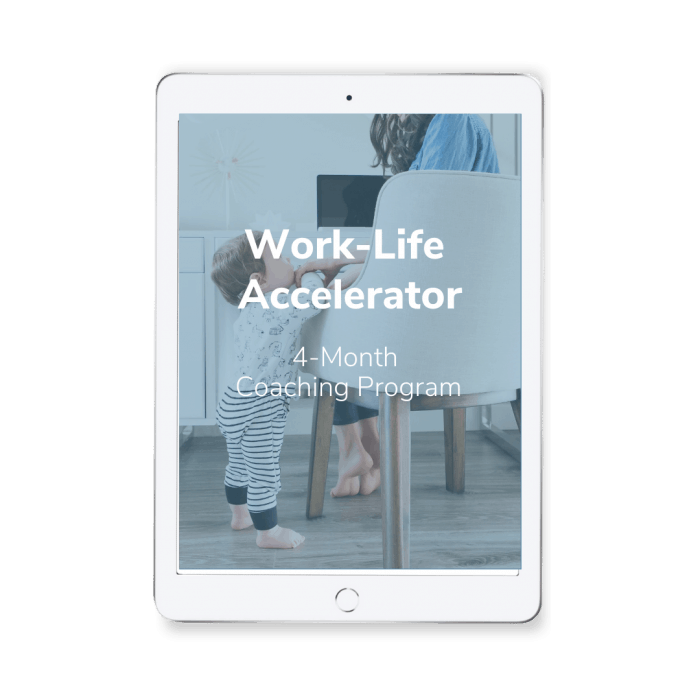 Work-Life Accelerator Coaching Program