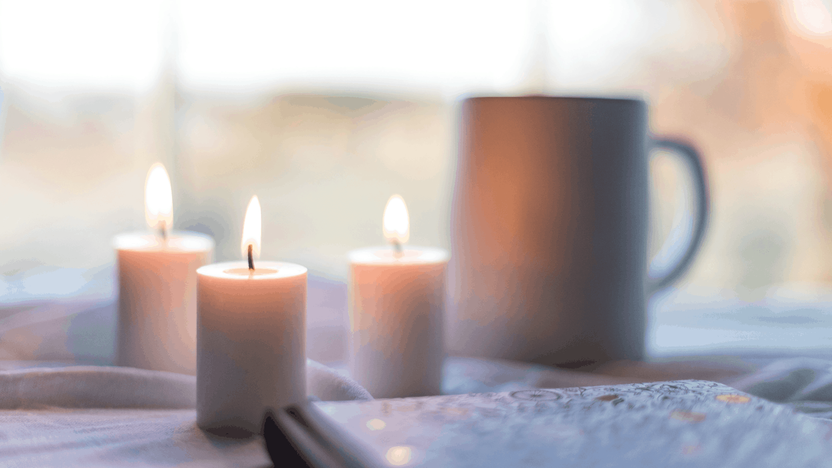 candles and coffee cup | resilience practices