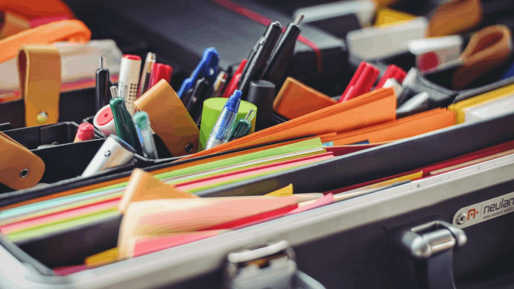 file folders with colorful post-its | best advice