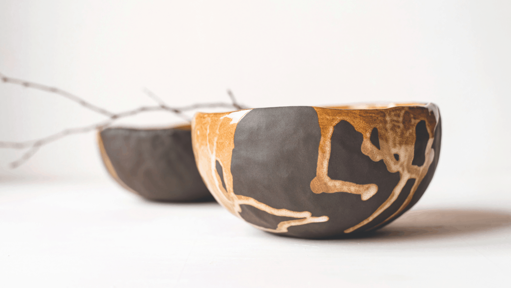ceramic bowl with cracks | recover from burnout